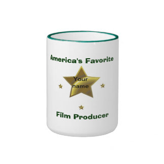 FILM PRODUCER: AMERICA'S FAVORITE (PERSONALIZED) RINGER COFFEE MUG