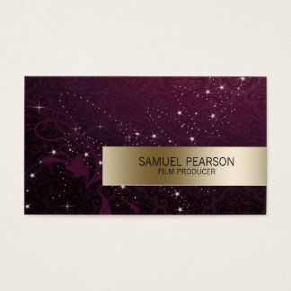 Film Producer Entertainment Skills Gold Stars Business Card