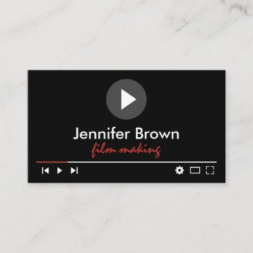 Film Production Editor Youtuber Video Director Business Card