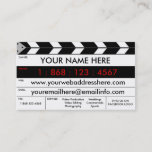 """Film Production Film Slate Business Card<br><div class=""""desc"""">This is a modern creative and impressive looking business card for anyone in the film or video industry. It has many different areas to fit all of your information without looking too cluttered.</div>"""
