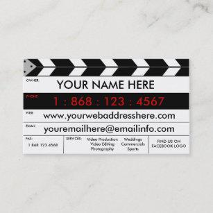 Video production business cards zazzle film production film slate business card reheart Image collections