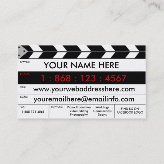 Film production film slate business card zazzle film production film slate business card colourmoves