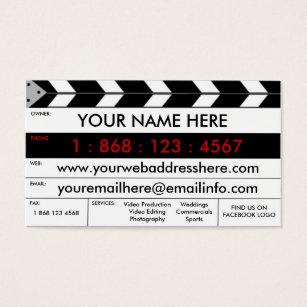 Videographer business cards templates zazzle film production film slate business card colourmoves