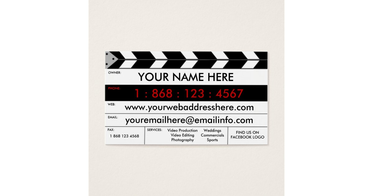 videographer business cards templates zazzle
