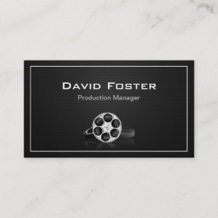 Film producer business cards templates zazzle film production manager director producer cutter business card colourmoves