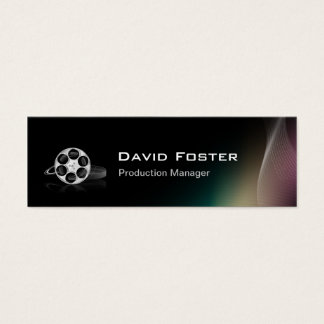 Film Production Manager Director Producer Cutter Mini Business Card