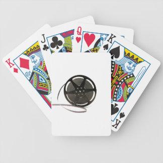 Film reel bicycle playing cards