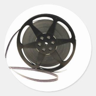 Film reel classic round sticker