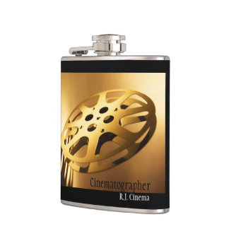 Film Reel Flask