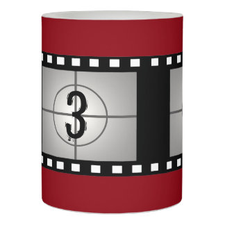 Film Reel Home Theater Decor Flameless Candle