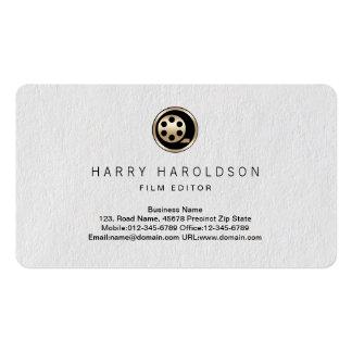 Film Reel Icon Film Editor Premium Business Card