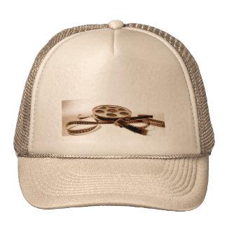 Film Reel in Sepia Tones Background Trucker Hat