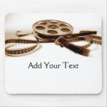 Film Reel in Sepia Tones Background Mouse Pads
