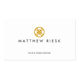 Film Reel Logo, Film and Video Editor White Double-Sided Standard Business Cards (Pack Of 100)