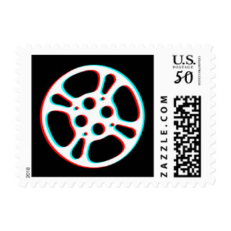 Film Reel / Movie Reel 3D Effect Stamp