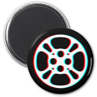 Film Reel / Movie Reel Magnet (color fringe)