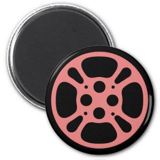 Film Reel / Movie Reel Magnet (Pink)