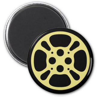 Film Reel / Movie Reel Magnet (Yellow)