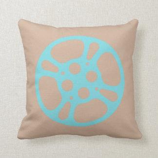 Film Reel / Movie Reel Pillow (Teal)