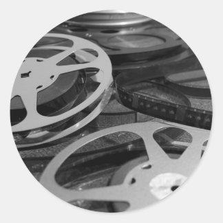 Film Reel / Movie Reel Sticker Round Sticker