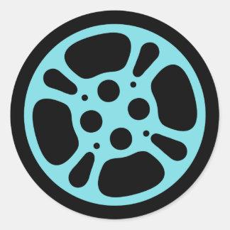 Film Reel / Movie Reel Sticker (Blue)
