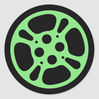 Film Reel / Movie Reel Sticker (Green)