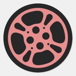 Film Reel / Movie Reel Sticker (Pink)