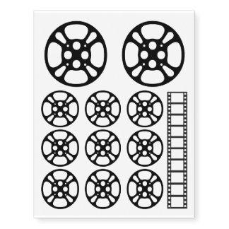 Film Reel / Movie Reel Temporary Tattoo