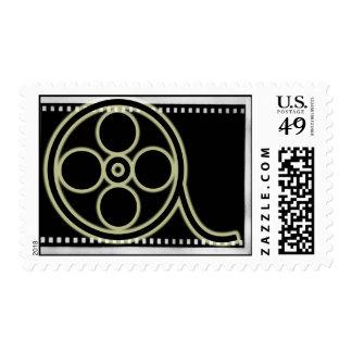 Film Reel Postage Stamp