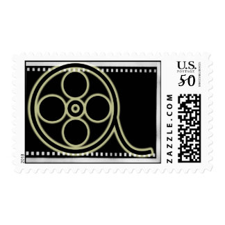 Film Reel Postage Stamp