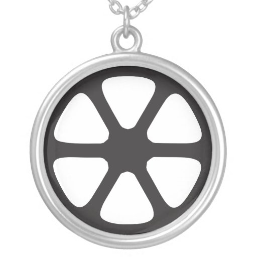 Film Reel Round Pendant Necklace