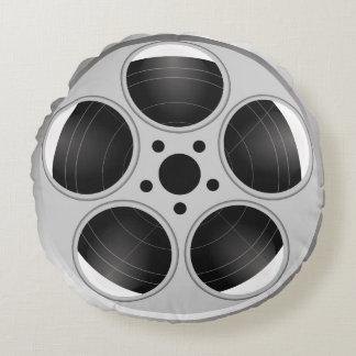FILM REEL Round Throw Pillow