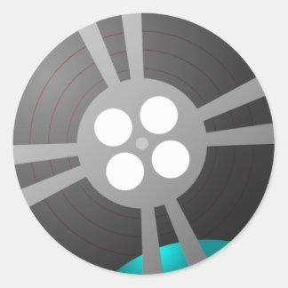 Film Reel Round Stickers