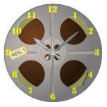 FILM REEL Wall Clock