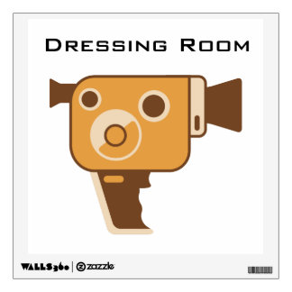 Film Set Movie Camera Customized Wall Sticker