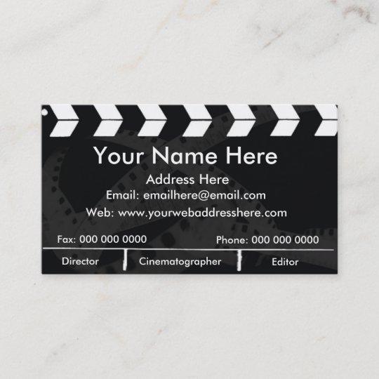 Film Slate Business Card Zazzle