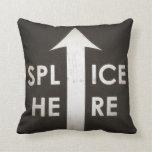 Film Splice Here Pillow