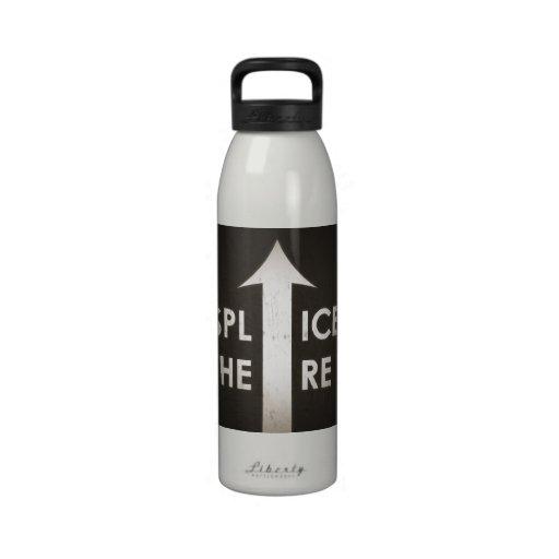 Film Splice Here Water Bottle