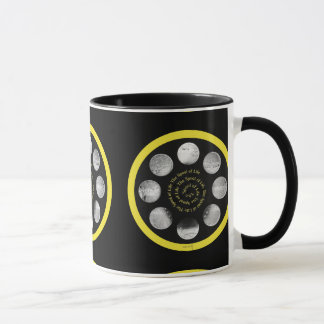 "Film Spool Mug - ""The Spiral Spool of Life"""