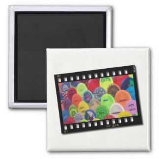 Film Strip 2 Inch Square Magnet
