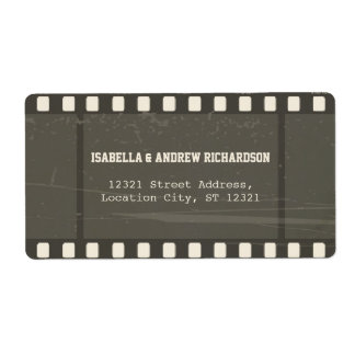 Film Strip Address Label