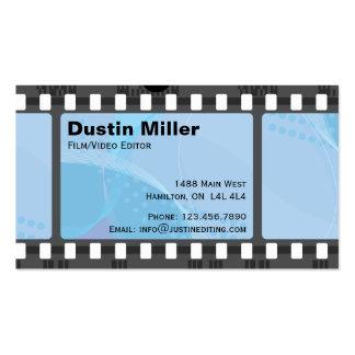 Film Strip - Blue Business Card Templates
