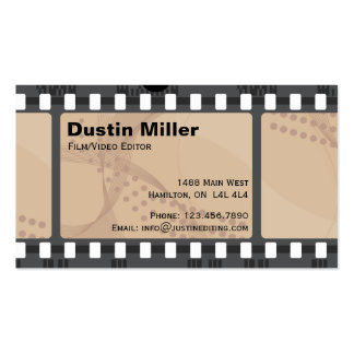 Film Strip - Brown Business Card Templates