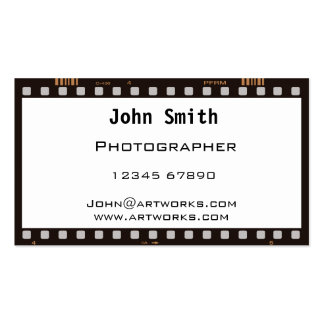 Film strip business card templates