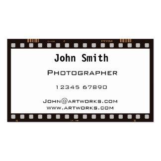 Film strip business card templates