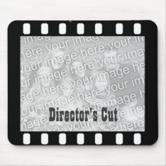 Film Strip Custom Photo Frame Director's Mousepad at Zazzle