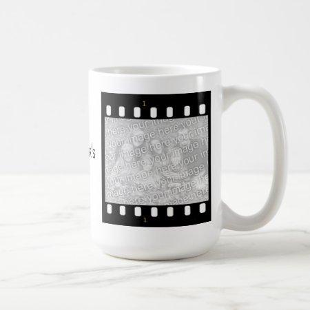 Film Strip Custom Photo Frame Directors Mug