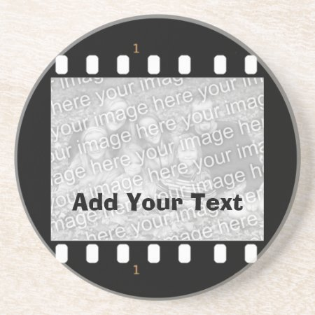 Film Strip Custom Photo Frame Drinks Coaster