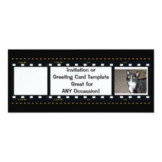 Film Strip-Customize Free 4x9.25 Paper Invitation Card