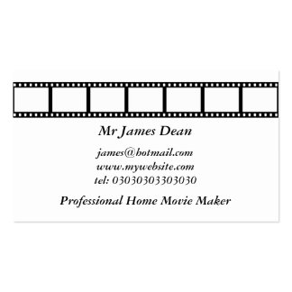 Film Strip Double-Sided Standard Business Cards (Pack Of 100)
